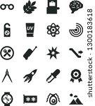 solid black vector icon set  ... | Shutterstock .eps vector #1300183618