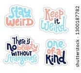 sticker set design template... | Shutterstock .eps vector #1300187782