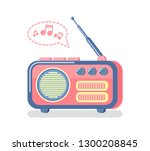 radio for information... | Shutterstock .eps vector #1300208845