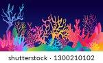 Fantasy Tropical Reef. Colorfu...