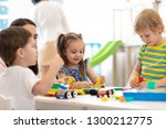 kids playing with educational... | Shutterstock . vector #1300212775