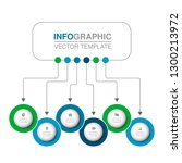 vector infographic template for ... | Shutterstock .eps vector #1300213972