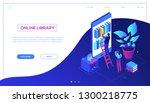 online library   modern...   Shutterstock .eps vector #1300218775