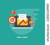 email targeting  subscription ... | Shutterstock .eps vector #1300218985