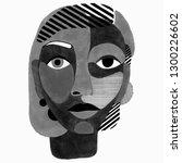 woman portrait in modern... | Shutterstock . vector #1300226602