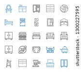 bed icons set. collection of... | Shutterstock .eps vector #1300227595