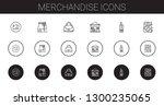 merchandise icons set.... | Shutterstock .eps vector #1300235065