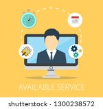 available customer service... | Shutterstock .eps vector #1300238572