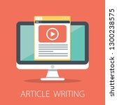 vector article writing design... | Shutterstock .eps vector #1300238575