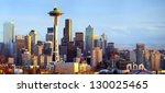 Sunset View Of Seattle Skyline  ...