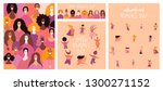 set of womens day cards with... | Shutterstock .eps vector #1300271152