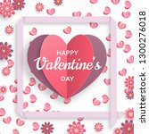 happy valentine day background. ...   Shutterstock .eps vector #1300276018