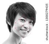 biometric verification. human... | Shutterstock . vector #1300279435