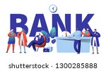 online bank business character... | Shutterstock .eps vector #1300285888