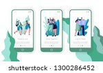 people couple travel mobile app ... | Shutterstock .eps vector #1300286452