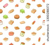 bakery products and snacks set. ... | Shutterstock .eps vector #1300288372