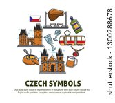 europe travel czech symbols... | Shutterstock .eps vector #1300288678