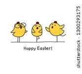 happy easter greeting card with ... | Shutterstock .eps vector #1300293175