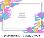 modern minimalist colorful... | Shutterstock .eps vector #1300297975