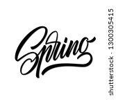 spring lettering web banner... | Shutterstock .eps vector #1300305415