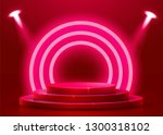 abstract round podium... | Shutterstock .eps vector #1300318102