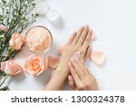 natural skincare concept. woman ... | Shutterstock . vector #1300324378