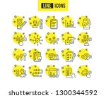survey or report line icons.... | Shutterstock .eps vector #1300344592
