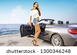 summer car with slim young... | Shutterstock . vector #1300346248