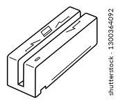 magnetic swipe card reader.... | Shutterstock .eps vector #1300364092
