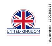 uk flag icon. the united... | Shutterstock .eps vector #1300368115