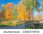 golden autumn in the park....   Shutterstock . vector #1300370935