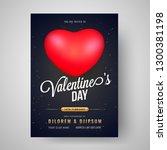 valentine's day celebration... | Shutterstock .eps vector #1300381198