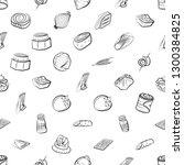 snacks  table setting and... | Shutterstock .eps vector #1300384825