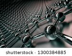 3d rendering of graphene... | Shutterstock . vector #1300384885