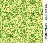 green vegetables seamless...   Shutterstock .eps vector #1300405132