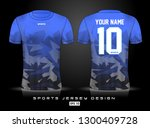 sports jersey template for team ... | Shutterstock .eps vector #1300409728
