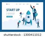 isometric the concept... | Shutterstock .eps vector #1300411012