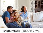 young african american family... | Shutterstock . vector #1300417798
