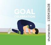 goal super celebration...   Shutterstock .eps vector #1300418638