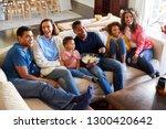 three generation family mixed... | Shutterstock . vector #1300420642