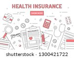 health insurance line...   Shutterstock . vector #1300421722