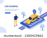car sharing concept. can use... | Shutterstock .eps vector #1300425862