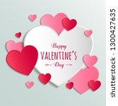 design of valentine's day... | Shutterstock .eps vector #1300427635