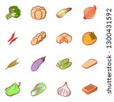 bakery products and vegetables... | Shutterstock .eps vector #1300431592