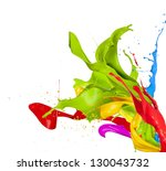 colored splashes in abstract... | Shutterstock . vector #130043732