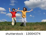 kids running | Shutterstock . vector #13004374