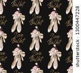 cute ballet seamless pattern... | Shutterstock .eps vector #1300447228