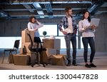 young team of business people... | Shutterstock . vector #1300447828