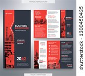 business brochure template in... | Shutterstock .eps vector #1300450435