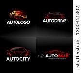 car logo templates set ... | Shutterstock .eps vector #1300451302